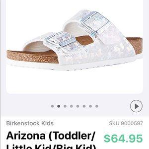 "ECU Birkenstock ""Arizona"" hologram silver"